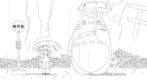 Tonari No Totoro By Mew2 Kun On Deviantart My Totoro Coloring Pages
