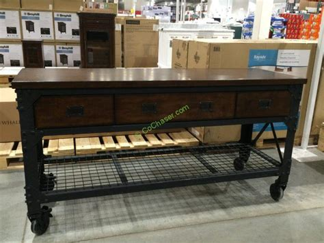 bench costco whalen industrial metal wood workbench costcochaser