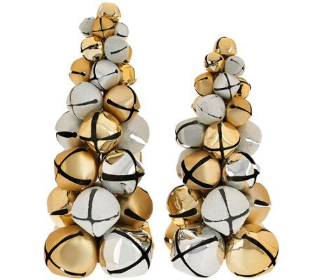 dennis basso set of 2 jingle bell christmas trees page 1