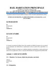 modele bail location habitation principale document