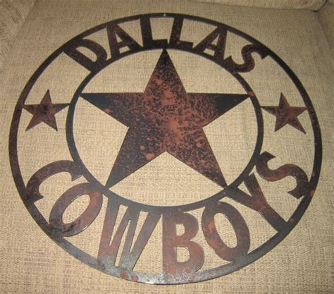 dallas sports sign metal cowboys home decor
