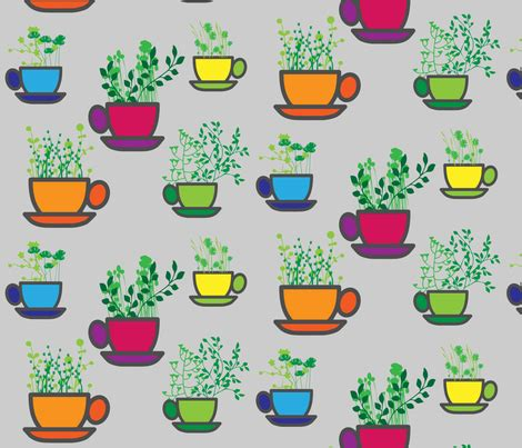 Flower Mug Spoon mug garden wallpaper kfrogb spoonflower
