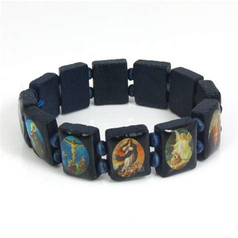 new saints catholic christian jesus wooden wood bracelets