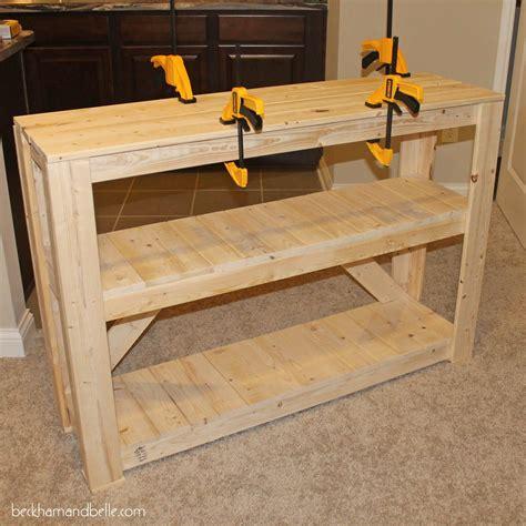 super easy diy wooden entryway console table diy