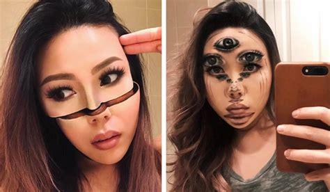 ilusiones opticas halloween las ilusiones con maquillaje de esta artista te dejar 225 n