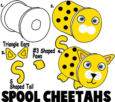 cheetah crafts for cheetah crafts for ideas to make cheetahs with easy