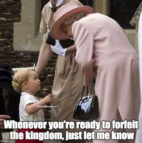 Prince George Meme - my reign will include naps inside of castles prince g