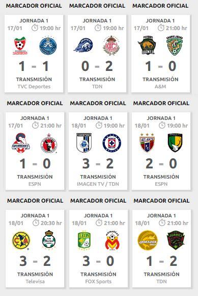 resultados d la jornada 9 2016 liga mx 5 de marzo calendario de la jornada 3 del clausura 2017 del futbol