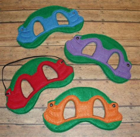 Pattern For Ninja Turtle Mask | 6x10 ninja turtle half mask on etsy 6 00 kobe s