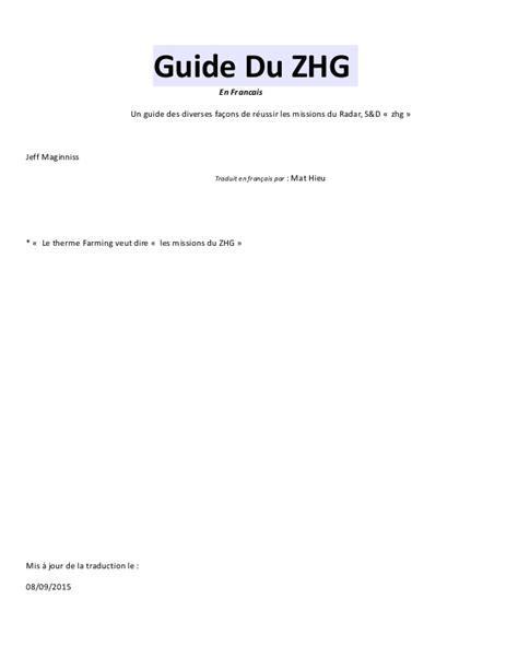 design guidelines en francais guide du zhg en francais