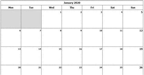 monthly calendar mon start ink saver excel template exceldatapro