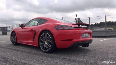 Porsche Cayman S 0 100 by 2016 Porsche 718 Cayman S Exhaust Sound Acceleration 0