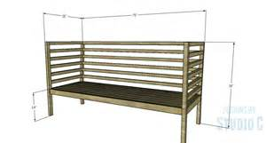 Outdoor Daybed Design Plans Diy Plans To Build A Penn Outdoor Daybed