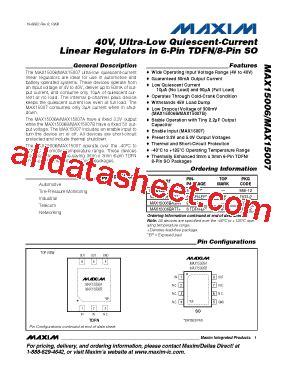 บร ษ ท maxim integrated products thailand co ltd max15006a 데이터시트 pdf maxim integrated products