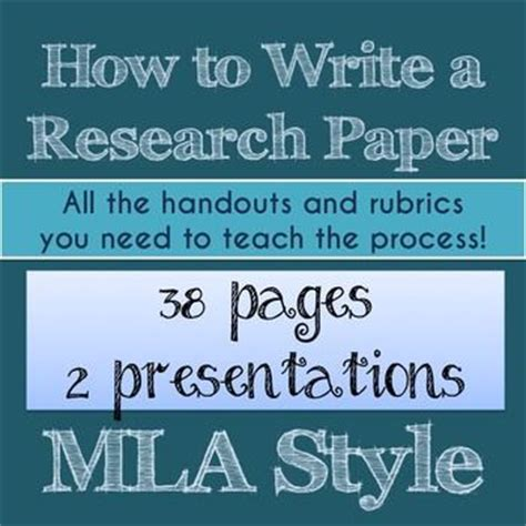 how to teach writing a research paper 26 best images about mla format on high school