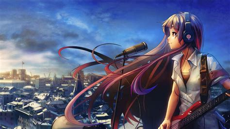 anime music girl wallpaper anime music wallpapers hd pixelstalk net