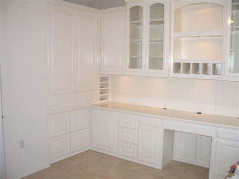 White Built In Cabinets by White Home Office Cabinetry Woodwork Creations