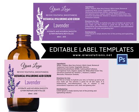 product label templates shoo label id29 aiwsolutions