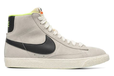 Nike Blazer Mid price 60 nike wmns blazer mid suede vintage light bone black lime womens high top sneakers for