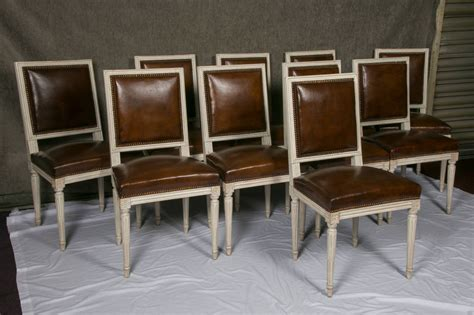 louis xvi armchair set of ten french louis xvi style leather dining chairs at 1stdibs