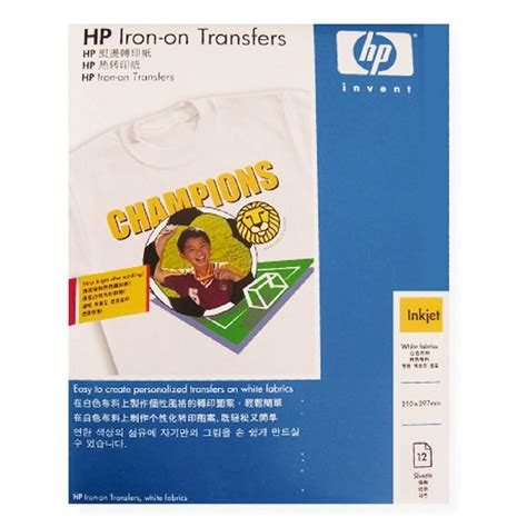 hp printer iron on transfer paper hp transfer iron on c6065a 12 pack warehouse stationery nz