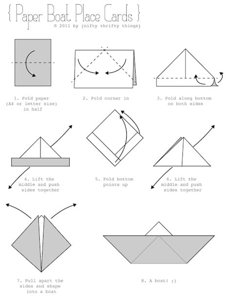 How To Fold A Paper Sailboat - paper boat place cards nifty thrifty things