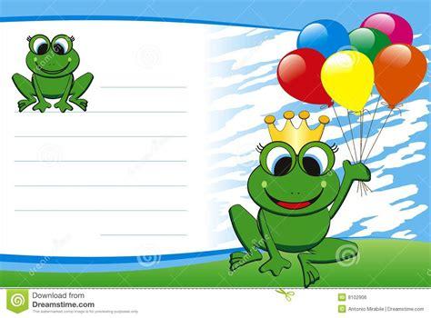 imagenes fondo de pantalla ranas carte d anniversaire illustration de vecteur illustration