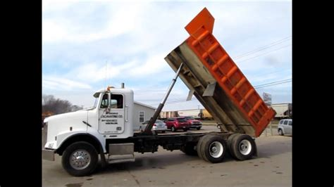 freightliner fld dump truck  sale sold  auction december   youtube