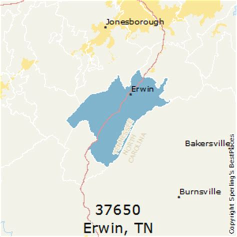 zip code map johnson city tn best places to live in erwin zip 37650 tennessee