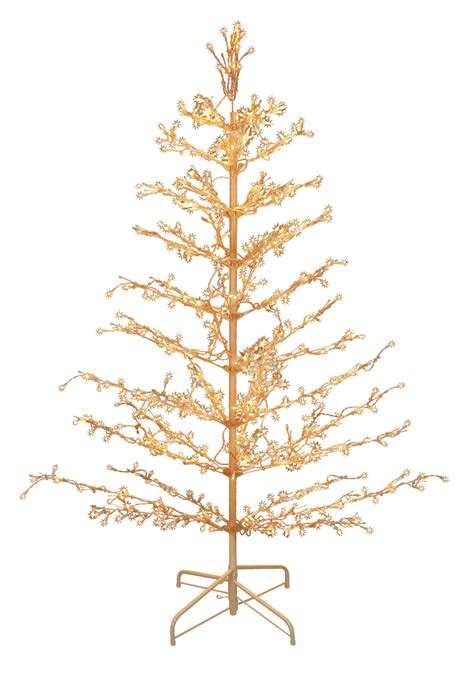stick christmas trees with lights 6 pre lit metal stick tree
