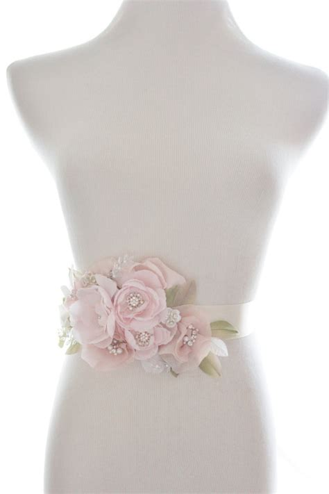 diy flower belt whimsical flower sash organza rhinestone belt