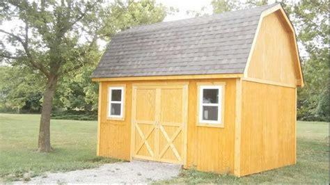 gambrel roof mini barn youtube