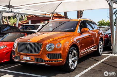 orange bentley bentayga bentley bentayga 28 may 2016 autogespot