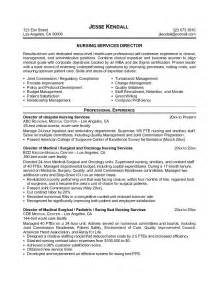 sample director of nursing resume sample resume format