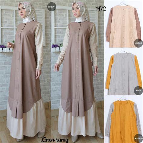 Celana Linen Bangkok grosir baju dress linen ramy d1172 tanah abang trend terkini desember 2017 2018