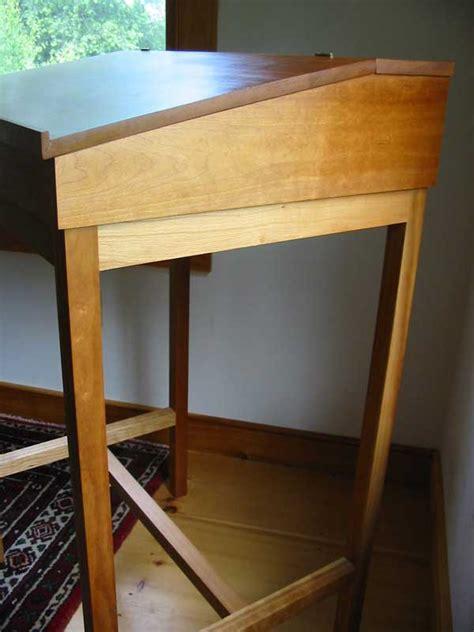 cherry stand  writing desk hardwood shaker desk