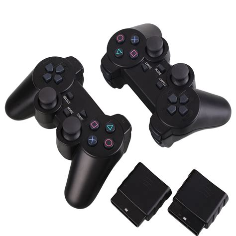 Stik Ps2 Wireless 24ghz Using 2 Pcs Aaa Batteries 2pcs wireless bluetooth controller for sony ps2 playstation 2 black ebay