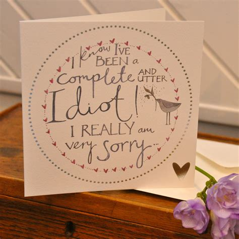 Sorry Cards Handmade - what i always wanted sorry card handmade printed design