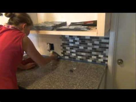 installing a plastic backsplash youtube stephanie s step by step kitchen remodel step 3