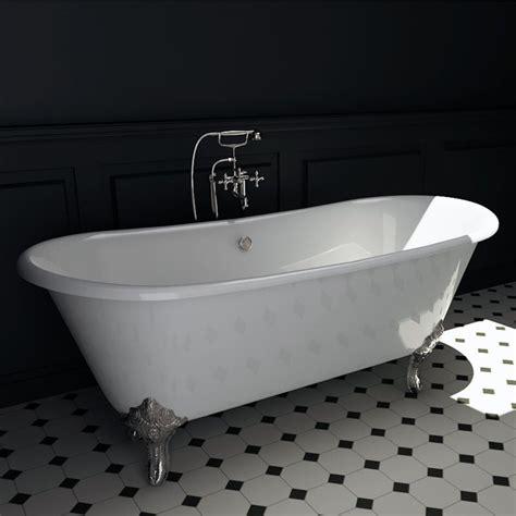 baignoire ilot en fonte 180x79 cm pieds chrom 233 s chelsea