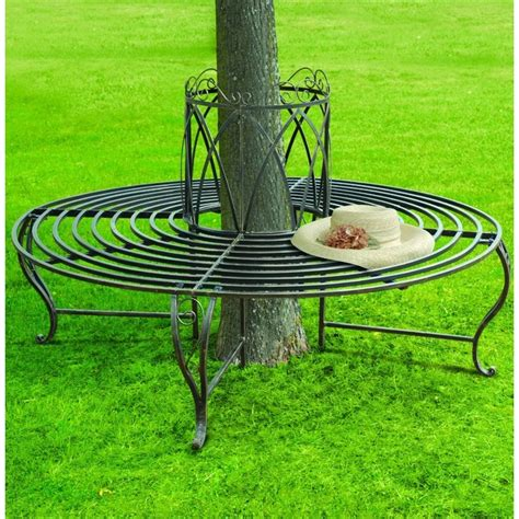 metal circular tree bench chelsea circular 360 deg tree bench the garden factory