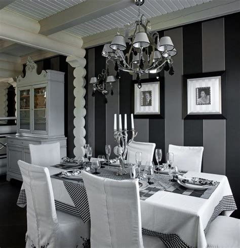 Black And White Dining Rooms by Dining Room