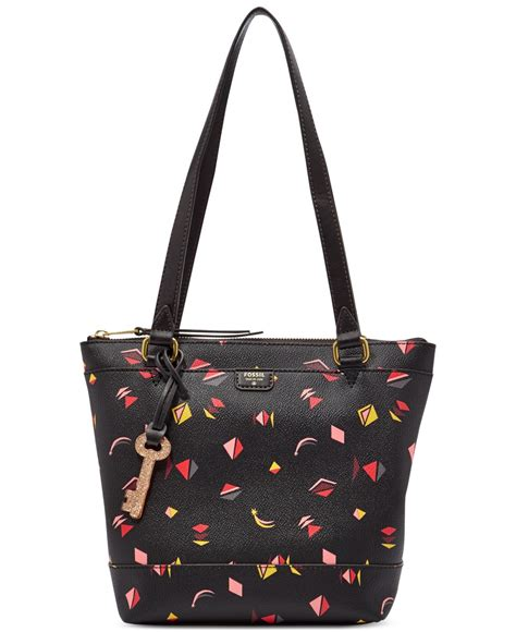 Sold Fossil Shopper Multi lyst fossil gifting printed small shopper in black