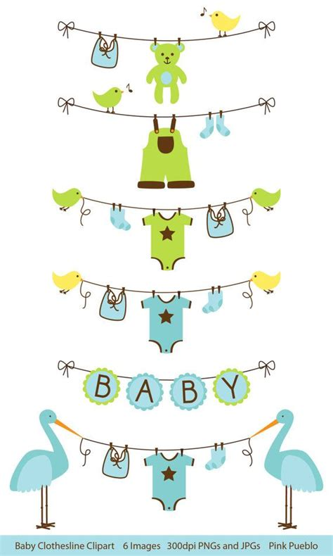 Lines Baby Bluemint By Amima baby boy clothesline clipart clip baby shower clip clipart vectors commercial and