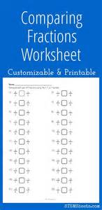 Math Worksheets Comparing Fractions by Comparing Fractions Worksheet Customizable And Printable