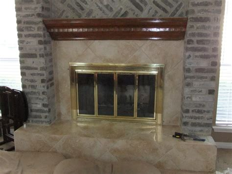 How To Remove Bricks From A Fireplace by Could Use Some Suggestions For Removing Thinset From Brick