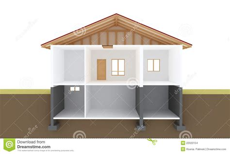 sectional house house section stock images image 22020154