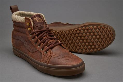 Sepatu Vans Blackbrownlist Icc sepatu sneakers vans sk8 hi mte brown herringbone