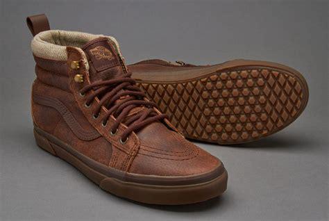 Sepatu Vans Sk8 Sk 8 High Hi Bad Brains Icc Premium High sepatu sneakers vans sk8 hi mte brown herringbone