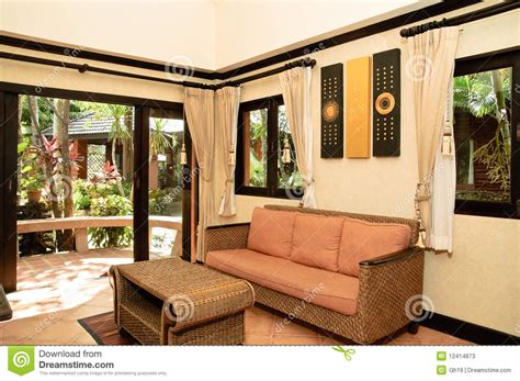 thai living room thai style living room stock photos image 12414873